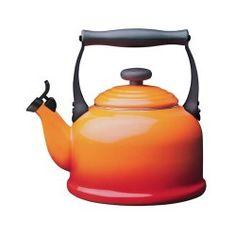 Le Creuset Tradition Fluitketel oranje, 2,1 ltr