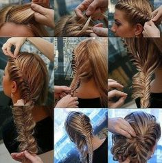I wish I had straight hair so I can do this without one hundred frizzy fly aways