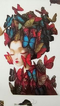 By Benjamin Lacombe Art And Illustration, Illustrations, Fantasy Paintings, Fantasy Art, Street Art, Lowbrow Art, Pop Surrealism, Japanese Artists, Whimsical Art