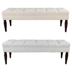 MJL Furniture Claudia Diamond Tuft Upholstered Long Bench