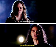 """""""My names is Killer Frost!"""" - Killer Frost and Cisco #TheFlash"""