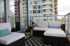Balcony decorating/outdoor living room area