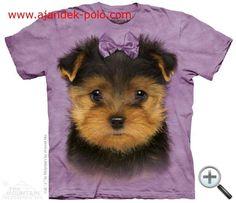 The Mountain, Yorkshire Terrier Puppy gyermek rövidujjú amerikai póló Yorkie Dogs, Yorkies, Yorkshire Terrier Puppies, Puppy Face, Cute Dogs, Dog Lovers, Classic T Shirts, Illustration, Beautiful