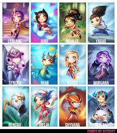 new chibies by justduet on deviantART #LoL #League of #legends