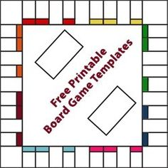 Free Printable Board Game Templates, fun idea