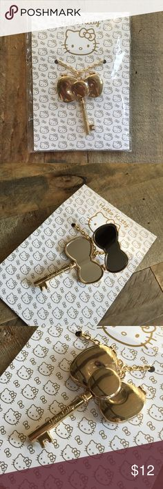 Hello Kitty Key Mirror Locket Necklace Sephora • Sanrio Hello Kitty Key necklace that has a mirror when bow is opened • Faux Gold Sanrio Jewelry Necklaces