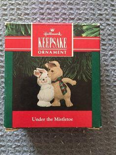 Under the Mistletoe 1991 Hallmark Keepsake Ornament