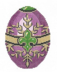 Lee Jeweled Egg Handpainted Needlepoint Canvas HP 474 | eBay