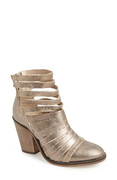 free people metallic strappy leather bootie - #nordstrom