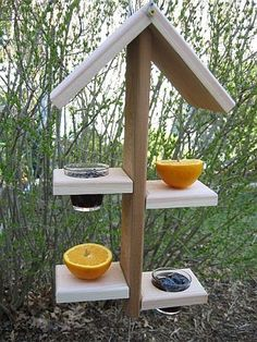 fruit and jelly stacker. Oriole Bird Feeders, Garden Bird Feeders, Bird House Feeder, Hanging Bird Feeders, Diy Bird Feeder, Wild Bird Store, Bird Feeder Plans, Bird Feeding Station, Homemade Bird Feeders