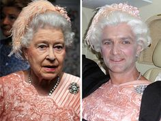 """Gary Connery was the real """"queen"""" who parachuted out of a helicopter during the opening ceremonies. Queen Elizabeth Tiaras, James Bond, Stunt Doubles, Real Queens, Queen Of England, Olympic Games, Then And Now, Olympics, Celebs"""