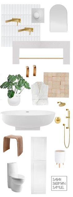 Sarah Sherman Samuel: My Master Bath Must-Haves.tub faucets from Rejuvenation Diy Bathroom Reno, Bathroom Renos, Bathroom Interior, Master Bathroom, Bathrooms, Best Interior, Interior And Exterior, Hot Tub Room, Minimal Bathroom