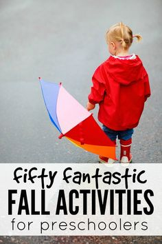Looking for ideas to keep your preschooler busy (and learning!) this fall? Me too! And that's why I put together this awesome collection of 50 fantastic fall activities for preschoolers. Enjoy!