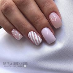 Semi-permanent varnish, false nails, patches: which manicure to choose? - My Nails Cute Acrylic Nails, Cute Nails, Pretty Nails, My Nails, Pink Nail Designs, Acrylic Nail Designs, Heart Nail Designs, Perfect Nails, Gorgeous Nails