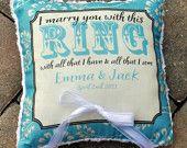 so cute ring pillows