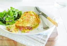 Fluffy Ham & Cheese Omelette