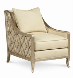 Caracole Upholstery Social Butterfly Chair with Exposed Wood Frame by Caracole at Jacksonville Furniture Mart Upholstered Dining Chairs, Chair And Ottoman, Dining Chair Set, Chair Cushions, Parks Furniture, Furniture Design, My Living Room, Living Room Chairs, Dining Room