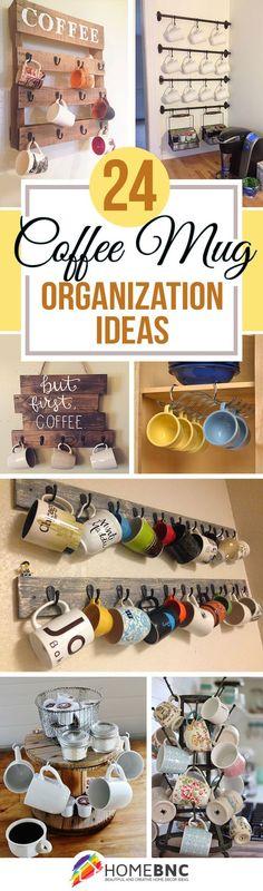 Coffee Mug Holder Ideas for DIY Coffee Bar Stations