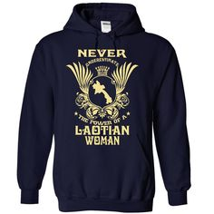 Never Underestimate the power of a Laotian woman T-Shirts, Hoodies. CHECK PRICE…