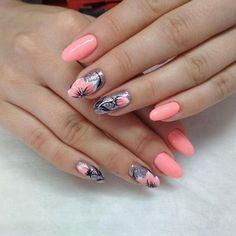 170 beautiful spring nail art designs page Nail Design Spring, Spring Nail Art, Spring Nails, Summer Nails, Pretty Nails, Fun Nails, Nail Art Designs, Crome Nails, Bright Nail Art