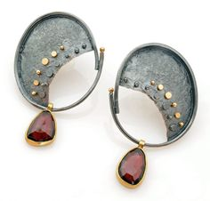 Garnet Drop earrings by Sydney Lynch