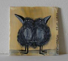 STINKESAUER - Nr. 2 von Herbivore11 Rabe Raben Comic Minibild Inchie Raven Crow