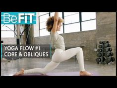 Yoga Flow Workout: Level 1 from BeFiT Trainer Open House is a 10 minute Yoga routine that focuses on the obliques, and twists to release muscle tension, incr...