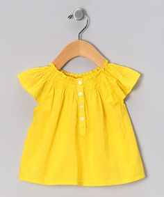 Yellow Butterfly Top - Infant & Toddler
