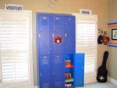 Salvaged Lockers for Storage