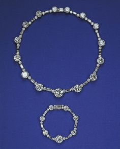 This undated image made available by the Royal Collection shows the South Africa Necklace and Bracelet, part of a exhibition of royal gems being staged to mark the Queen's 60-year reign at the Queen's gallery, Buckingham Palace.