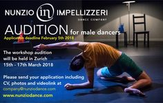 For the new creation CORPO BAROCCO, Nunzio Impellizzeri Dance Company is looking for male dancers.