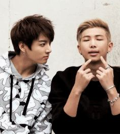 BTS | JUNG KOOK and RAP MONSTER<<< Rap Monster is having a dad teaching…
