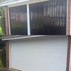 compact 55m roller garage door in burgundy perfect for low head room garage pinterest. Black Bedroom Furniture Sets. Home Design Ideas