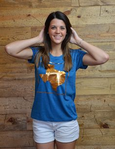 Everything is bigger and better, and now shiny-er in Texas with this new bronze tee!