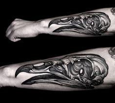 bf3d4acf4281 Awesome Black and Gray dotwork tattoo of Vulture Skull by Polish tattoo  artist Kamil Czapiga