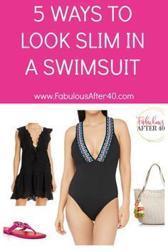 If you're on the hunt for a new slimming swimsuit, here are 5 things to think about.  #FabulousAfter40 #swimwear #swimsuitover40 #womensfashion #over40 #summerstyle Vacation Outfits, Summer Outfits, Vacation Wardrobe, Wardrobe Capsule, How To Look Skinnier, How To Look Better, That Look, Dressing Your Body Type, Summer Fashion Trends