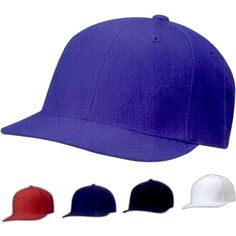 Magic Flat Bill Cap... Features: 80% acrylic/20% wool, structured, high-profile, six-panel, matching undervisor, U-curve curvable flat bill technology, sewn eyelets, plastic tab adjust. One size.