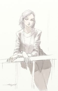 Girl sketch by whiskypaint