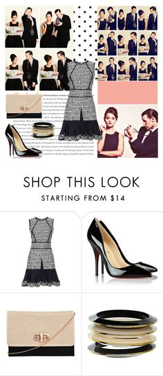 """""""Matt Smith and Jenna Louise Coleman"""" by jenica35 ❤ liked on Polyvore featuring Oscar de la Renta, Christian Louboutin, Style Tryst and Dorothy Perkins"""