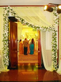 When you're looking for flower decorators in Hyderabad or Wedding Stage Decoration, choose the best professionals. Desi Wedding Decor, Luxury Wedding Decor, Wedding Stage Decorations, Flower Decorations, Gate Decoration, Home Entrance Decor, Wedding Gate, Wedding Entrance, Simple Stage Decorations