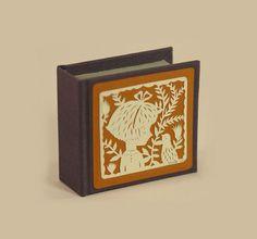 miniature artist book w/ papercut