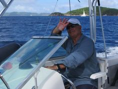 john driving boat