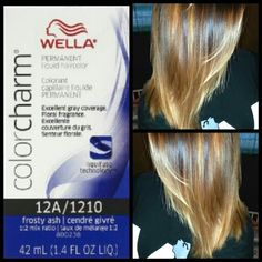 ... tones and brighten my ombre. Wella color charm 12A Frosty Ash