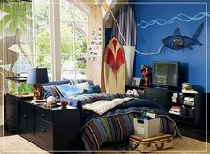 Surfing Decoration Theme to Create Cheerful and Pleasant Look