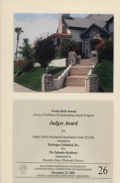 Judge's Award for Single Family Residential, 2002