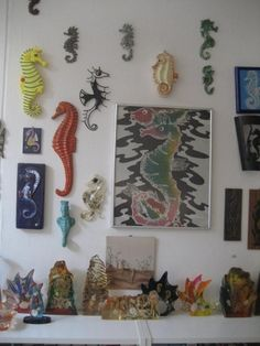 Seahorse inspired wall