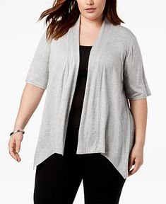 9a300fb23b7 Shop Plus Size Handkerchief-Hem Sweater online at Macys.com. Layer on style