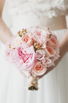 #Pink #Bouquet | See the full inspiration shoot on Style Me Pretty:  http://www.stylemepretty.com/canada-weddings/ontario/toronto/2012/05/16/toronto-pastel-photo-shoot-by-vicky-starz-photography-sweet-woodruff/  Vicky Starz Photography
