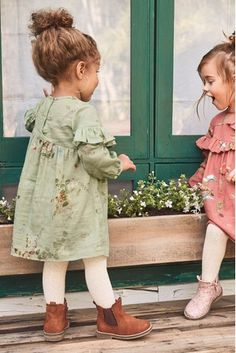 Next Official Site: Womens & Mens Fashion, Kids Clothes & Homeware Green Floral Dress Toddler Girl Style, Toddler Girl Outfits, Toddler Girl Fall, Toddler Hair, Toddler Boys, Cute Kids Fashion, Toddler Fashion, Retro Fashion, Mens Fashion