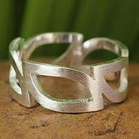 Hand Made Sterling Silver Band Ring - Minimalist | NOVICA